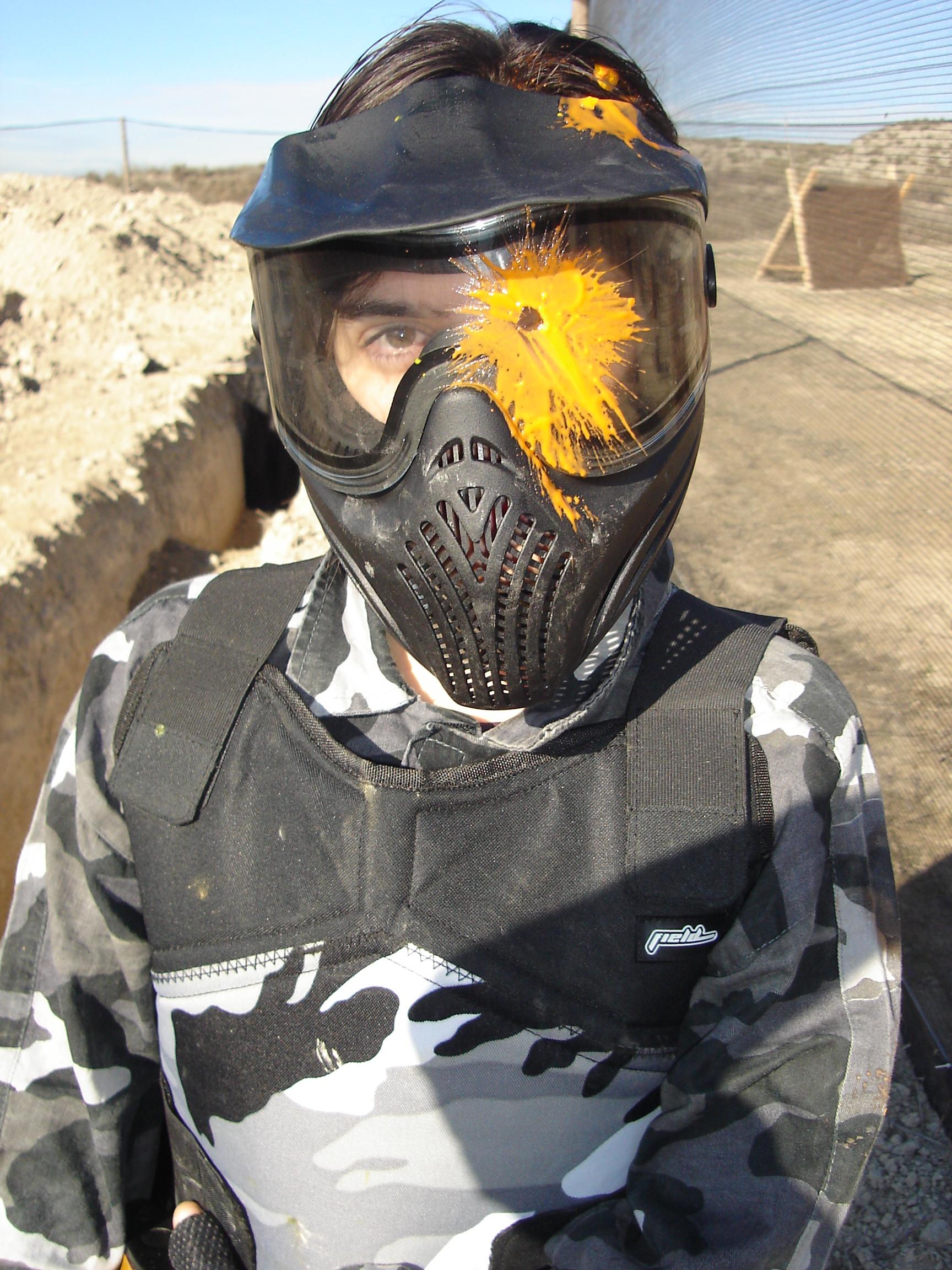 Bolazo en máscara